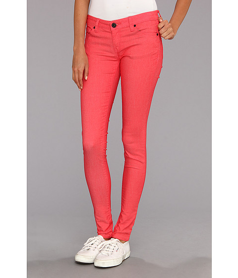Hurley - Camaro Skinny Twill Legging (Juniors) (Hot Red) Women's Jeans