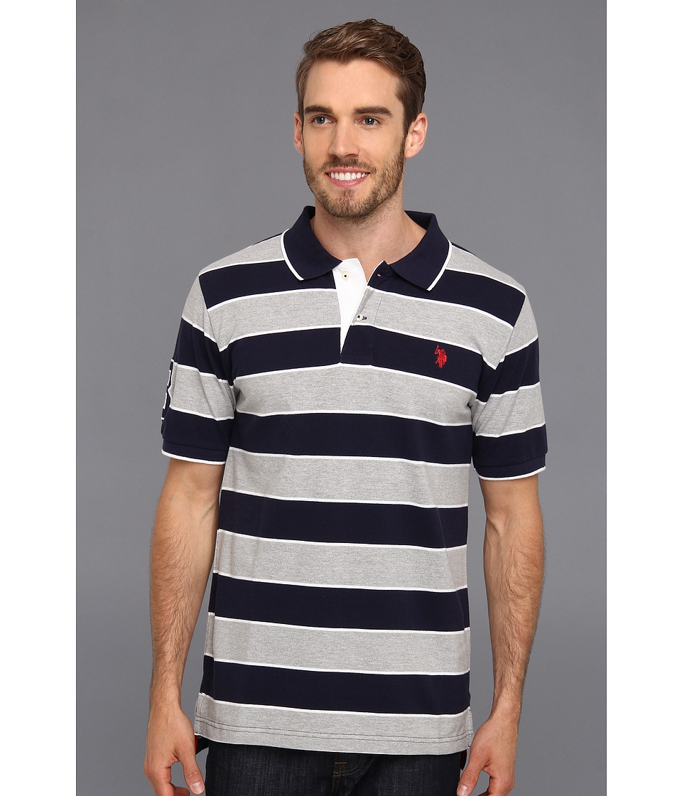 U.S. POLO ASSN. - Yarn Dyed Striped Polo with Small Pony (Classic Navy) Men