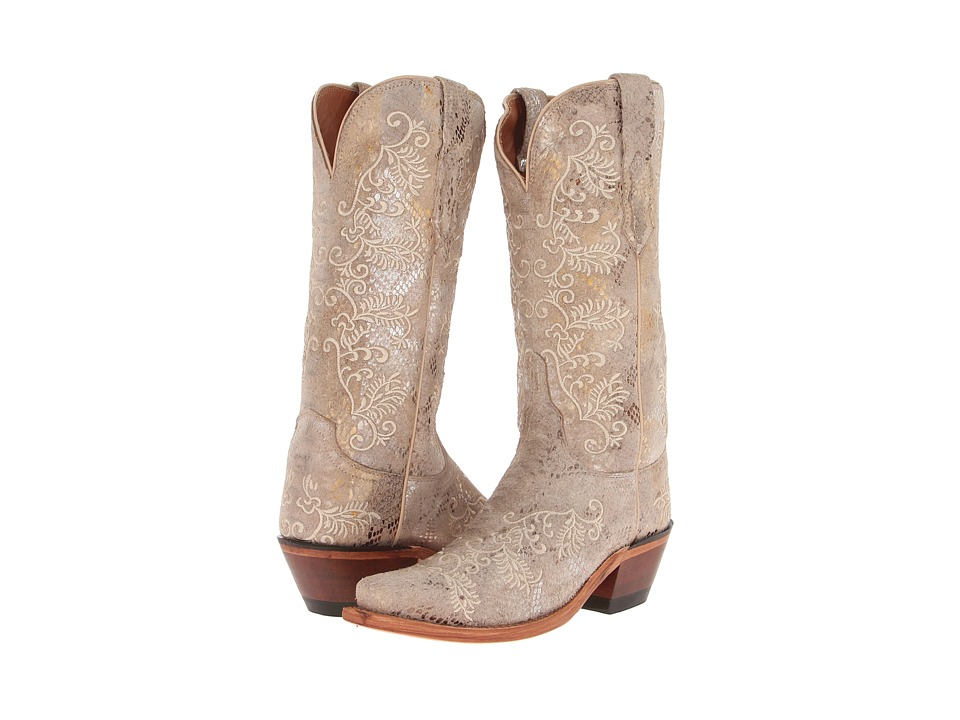 Lucchese - M4715.S54 (Stone Python Print) Cowboy Boots