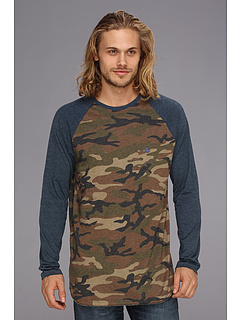 SALE! $16.99 - Save $19 on Billabong Camo Raglan Pullover (Naval Heather) Apparel - 52.14% OFF $35.50