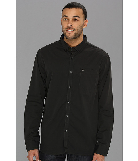 Billabong - All Day L/S Woven Shirt (Black 1) Men's Long Sleeve Button Up