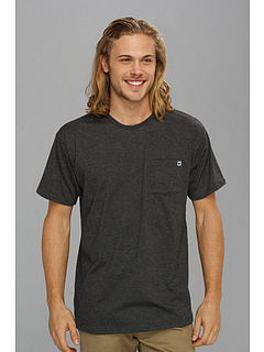 SALE! $15.35 - Save $7 on Billabong Essential Pocket Crew S S (Dark Grey Heather) Apparel - 30.23% OFF $22.00