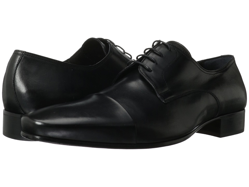 Bruno Magli - Martico (Black) Men's Lace Up Cap Toe Shoes
