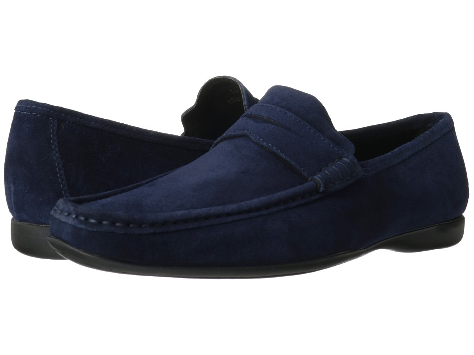 Bruno Magli - Partie (Navy) Men's Slip-on Dress Shoes
