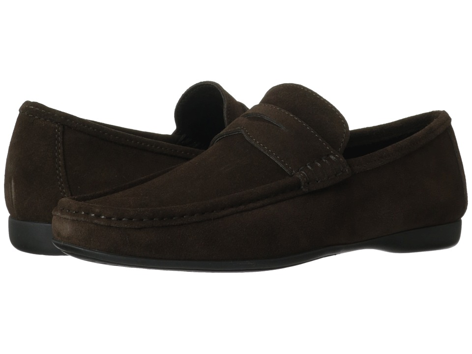 Bruno Magli - Partie (Dark Brown) Men's Slip-on Dress Shoes