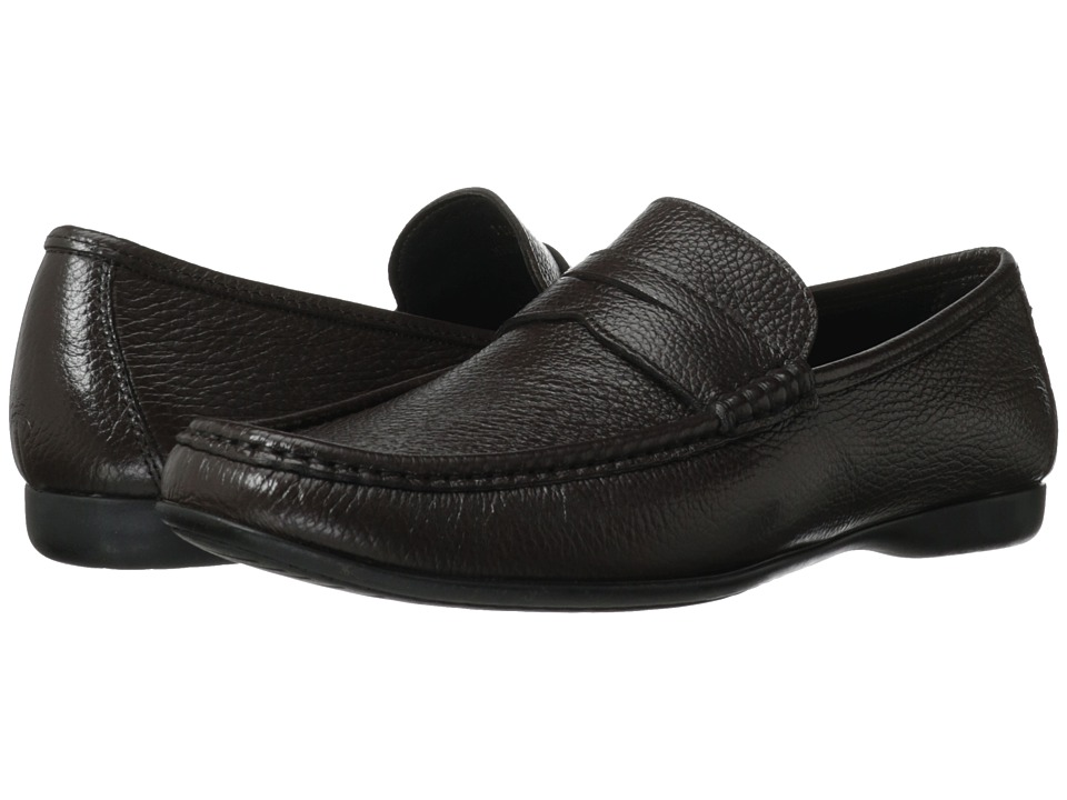Bruno Magli - Partie 2 (Dark Brown) Men's Slip-on Dress Shoes