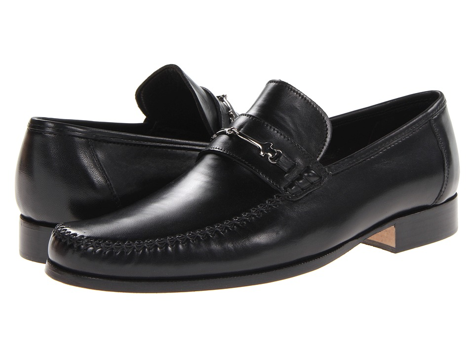 Bruno Magli - Pittore (Black) Men's Slip on Shoes