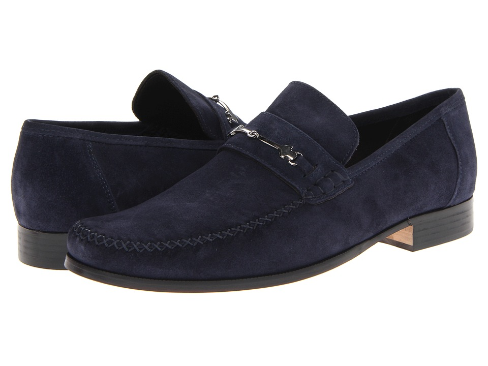 Bruno Magli - Pittore 2 (Navy) Men's Slip-on Dress Shoes