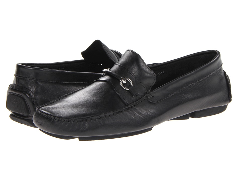 Bruno Magli - Pogia (Black) Men's Slip-on Dress Shoes