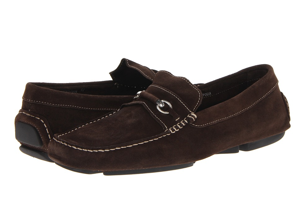 Bruno Magli - Pogia 2 (Dark Brown) Men's Slip-on Dress Shoes