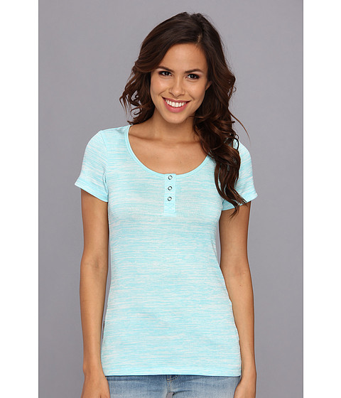 UGG - Constance S/S Top (Blue Curacao) Women's Short Sleeve Pullover