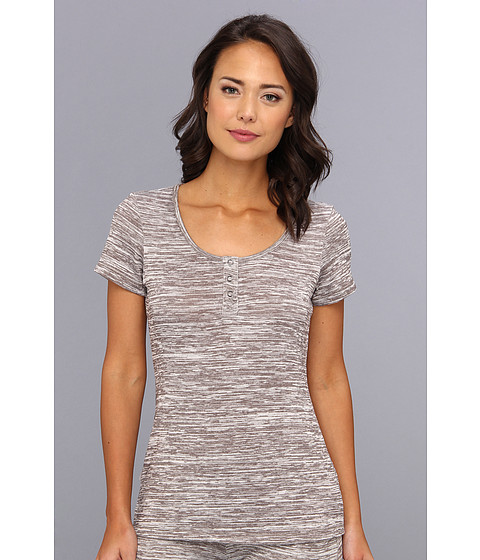 UGG - Constance S/S Top (Charcoal) Women's Short Sleeve Pullover