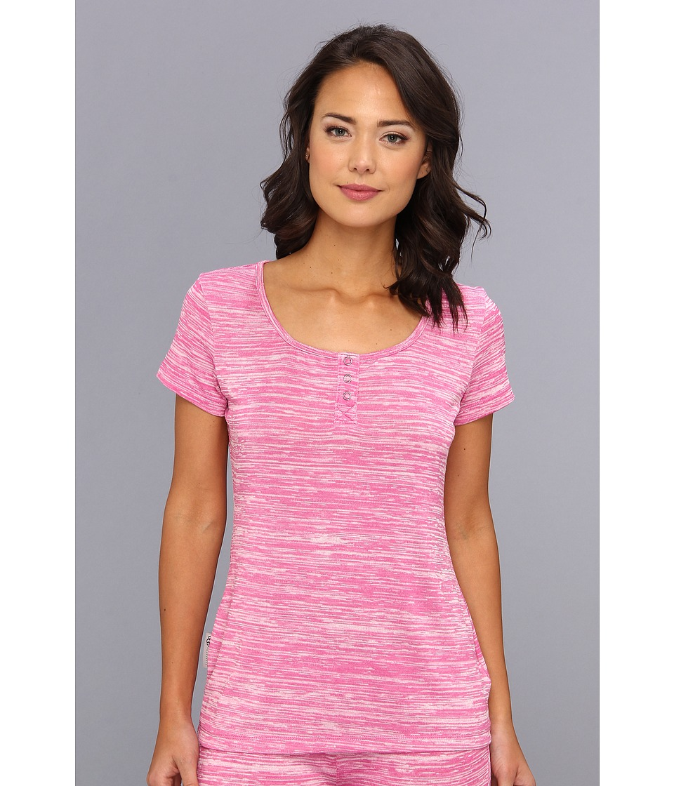 UGG - Constance S/S Top (Princess Pink) Women's Short Sleeve Pullover