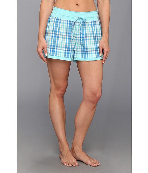 UGG - Margot Lounge Short (Brilliant Blue Plaid/Blue Curacao) Women