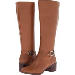 Anne Klein Joetta (Dark Natural Leather) Footwear