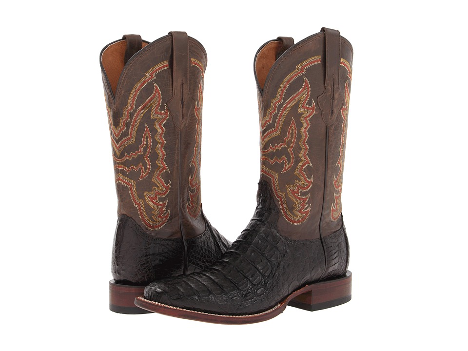 Lucchese - M4539 (Cigar Hornback Caiman/Chocolate Mad Dog) Cowboy Boots