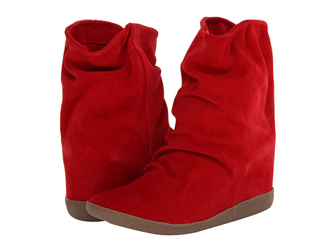 Steve Madden Headline (Red Suede) Women's Pull-on Boots