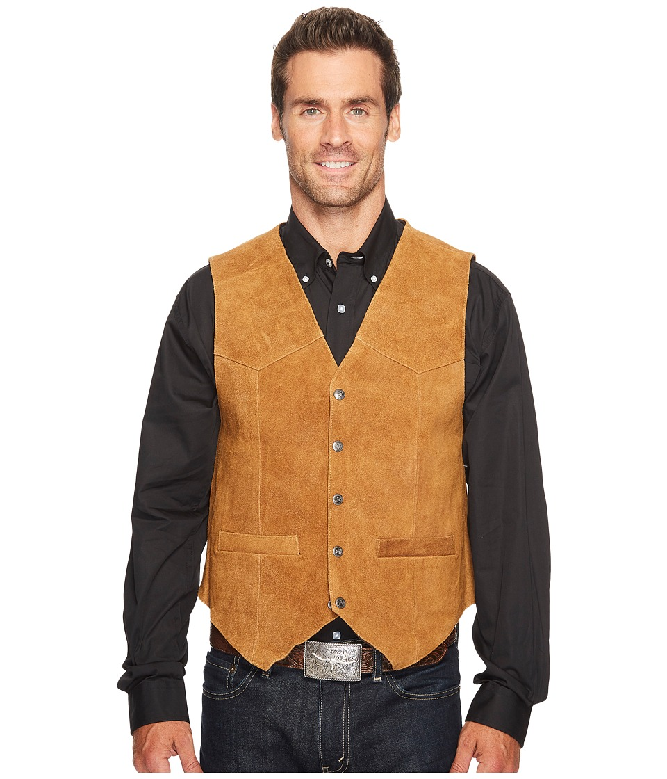 Scully - Rugged Calf Suede Vest (Rust) Men's Vest