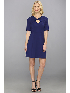SALE! $146.99 - Save $121 on BCBGMAXAZRIA Cypress Shawl Top Dress (Orient Blue) Apparel - 45.15% OFF $268.00