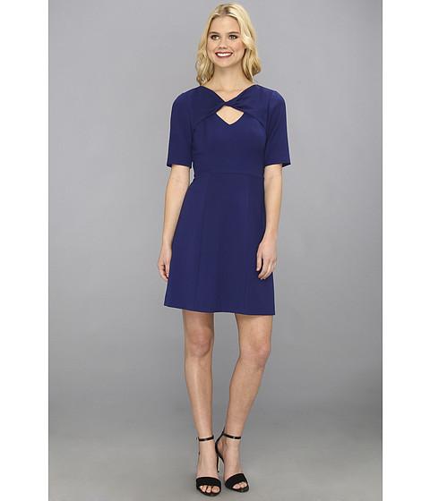 BCBGMAXAZRIA - Cypress Shawl Top Dress (Orient Blue) Women