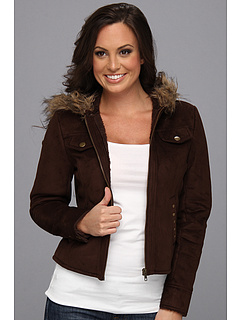 SALE! $54.99 - Save $64 on Scully Alena Faux Fur Zippered Hood Jacket (Espresso) Apparel - 53.79% OFF $119.00
