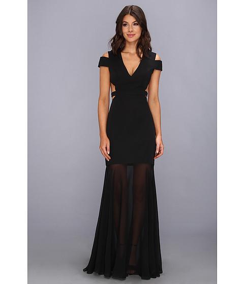 BCBGMAXAZRIA - Ava Cutout Gown (Black) Women