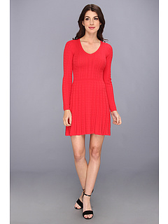 SALE! $171.99 - Save $56 on BCBGMAXAZRIA Petite Keila Cable Knit Dress (Red Berry) Apparel - 24.57% OFF $228.00