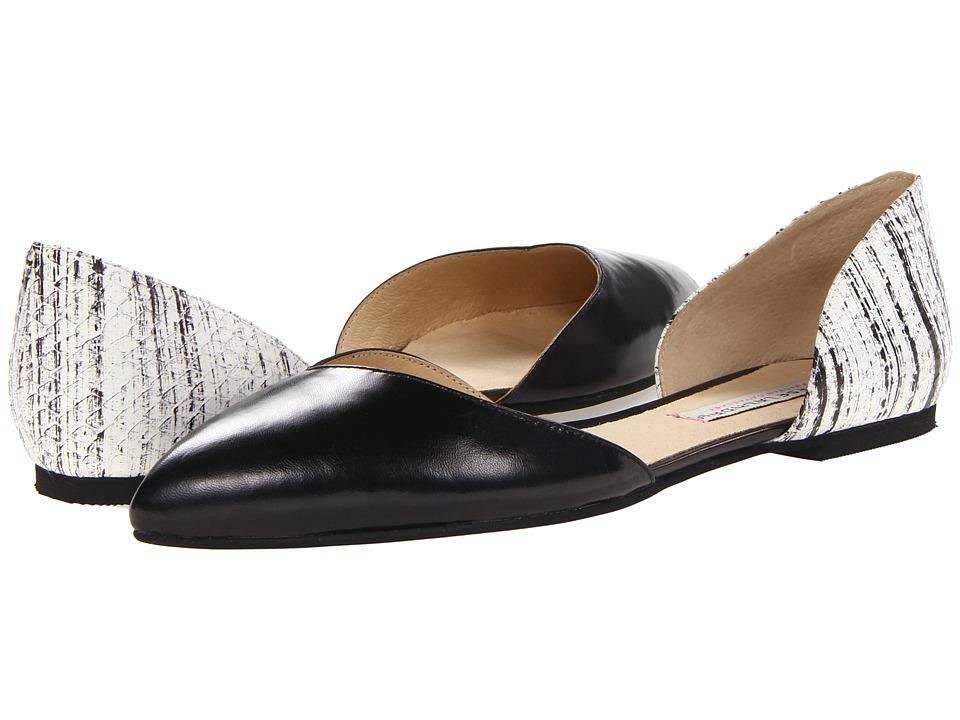 Chinese Laundry - Kristin Cavallari - Cadence (Black/White) Women's Flat Shoes
