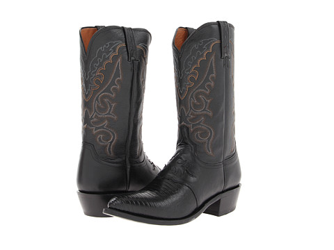 Lucchese - M2900.J4 (Black Saddle Vamp Lizard) Cowboy Boots