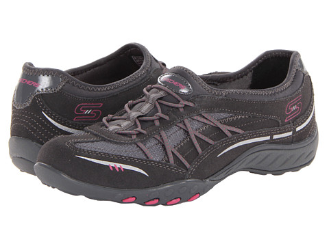 SKECHERS - Relaxed Fit - Breathe Easy - Weekender (Charcoal) Women's Lace up casual Shoes