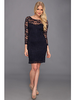 SALE! $31.99 - Save $37 on Type Z Ronie Lace Dress (Navy) Apparel - 53.64% OFF $69.00
