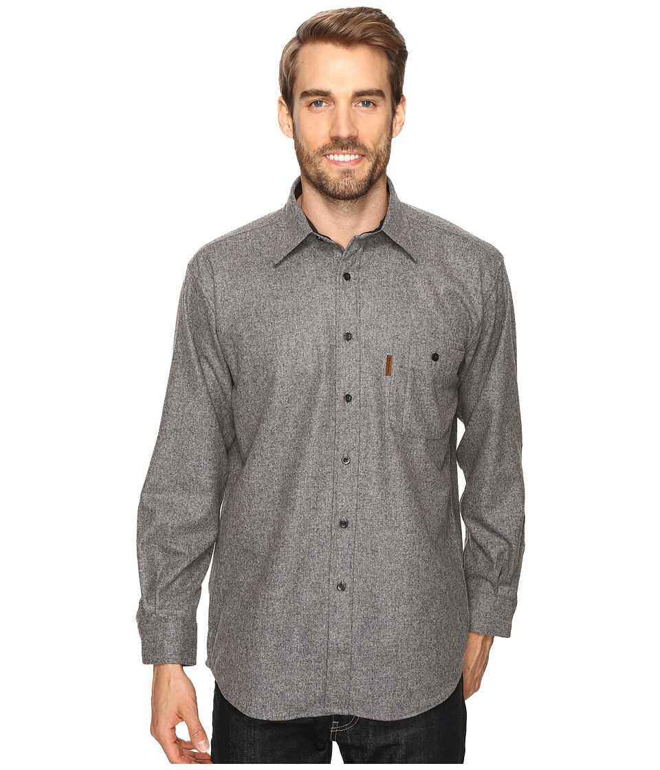 Pendleton - L/S Trail Shirt w/ Elbow Patch (Grey Mix Solid) Men's Long Sleeve Button Up