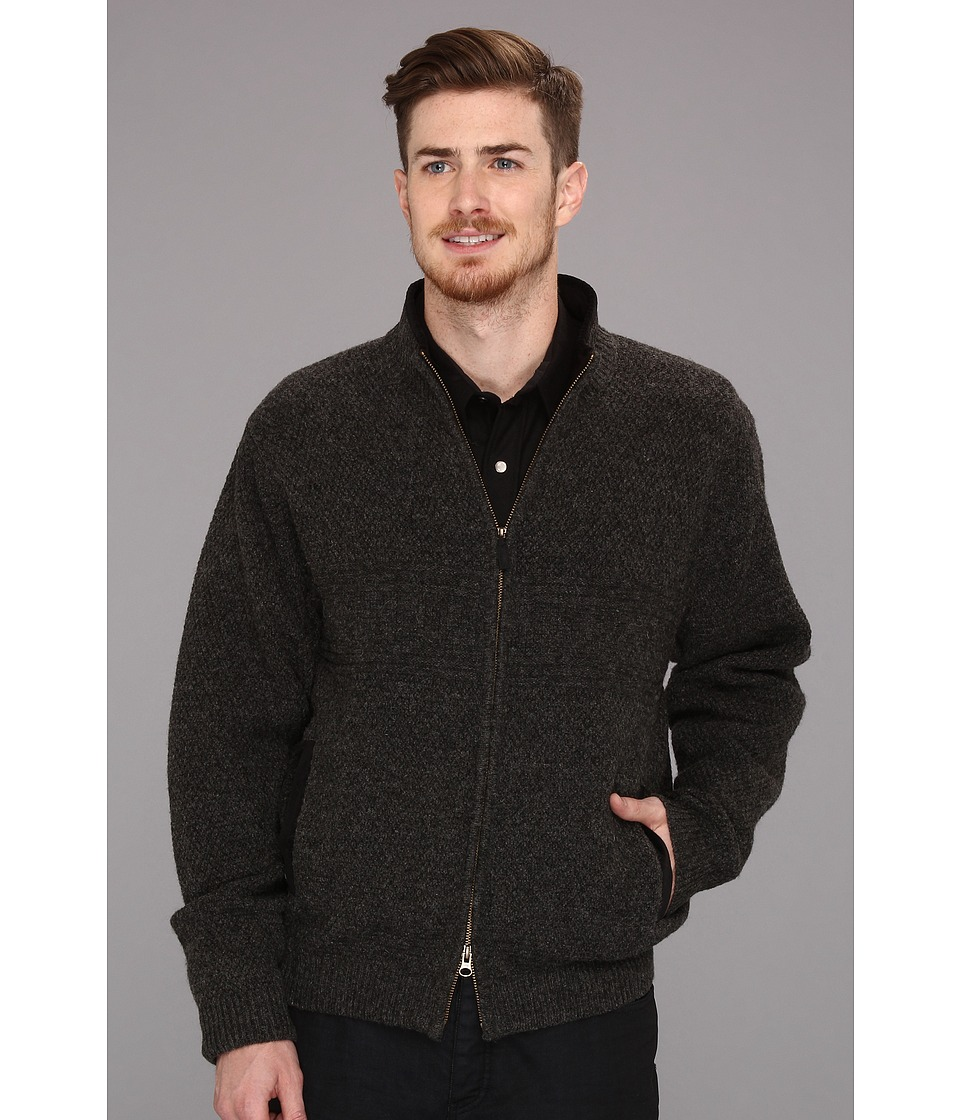 Pendleton - Weekender Zip Front Cardigan (Black Heather) Men's Sweater