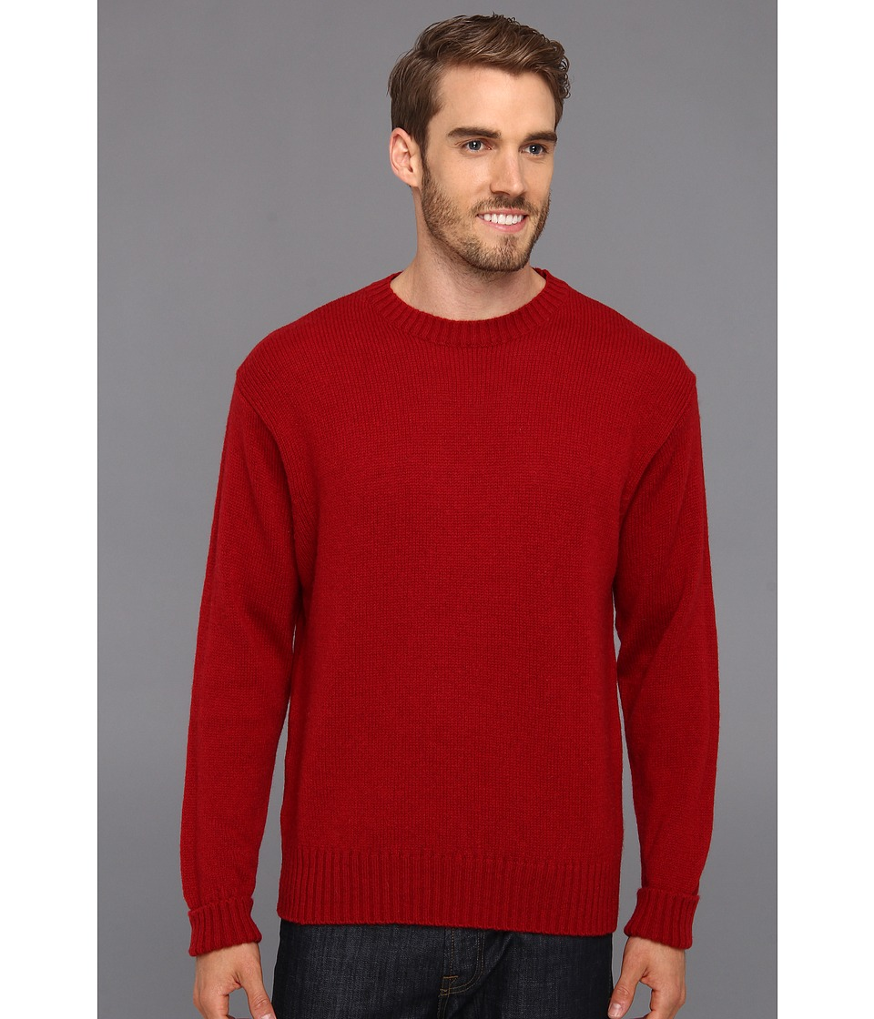 Pendleton - Shetland Crew Sweater (Tartan Red) Men's Clothing