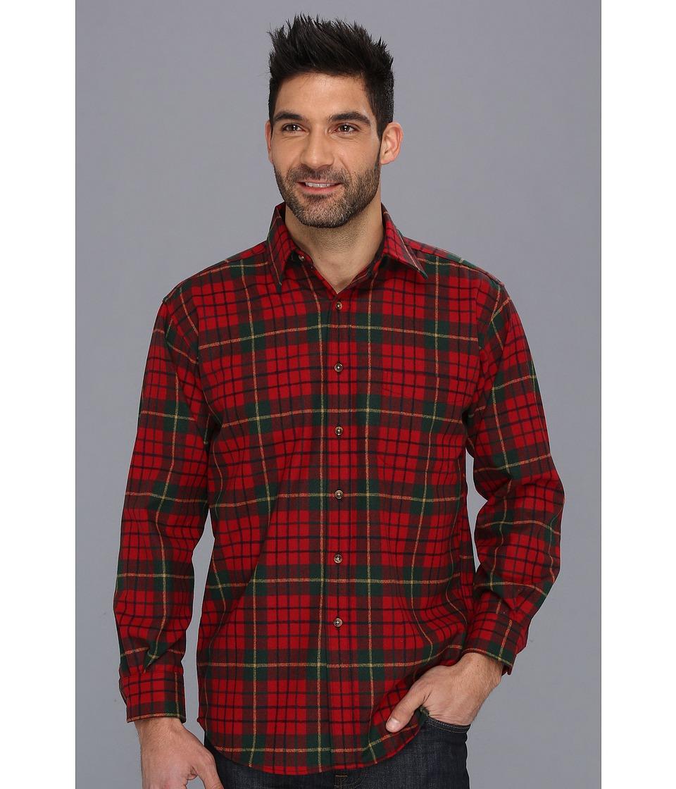Pendleton - L/S Lodge Shirt (Pendleton Red Tartan) Men