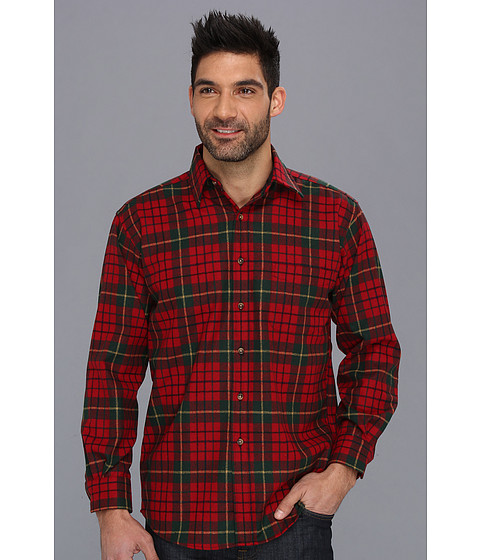Pendleton - L/S Lodge Shirt (Pendleton Red Tartan) Men's Long Sleeve Button Up