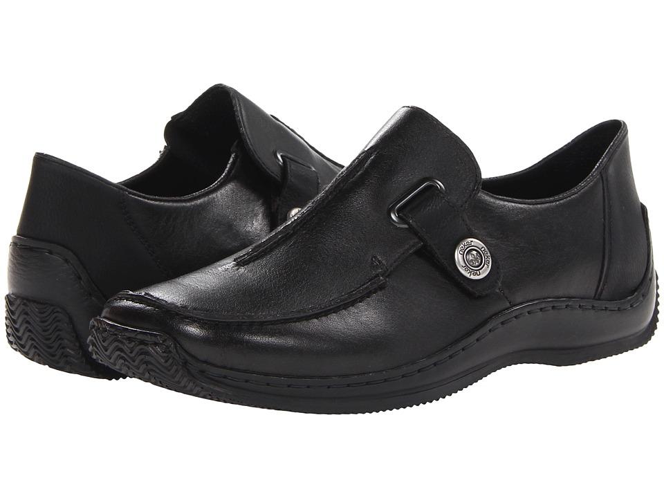 Rieker - L1753 Celia 53 (Schwarz/Schwarz Minesota/Mombasa) Women's Shoes