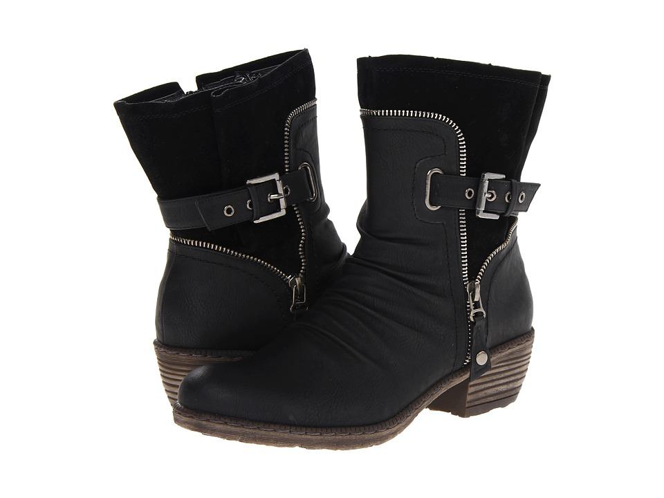 Rieker - 93761 Bernadette 61 (Schwarz/Schwarz Belinga/Sumatra) Women's Zip Boots
