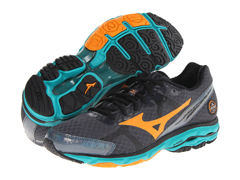 Mizuno - Wave Rider 17 (Dark Slate/Bright Marigold/Columbia) Men's Running Shoes