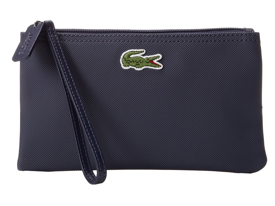 Lacoste - L1212 Wristlet (Shadow Blue) Clutch Handbags