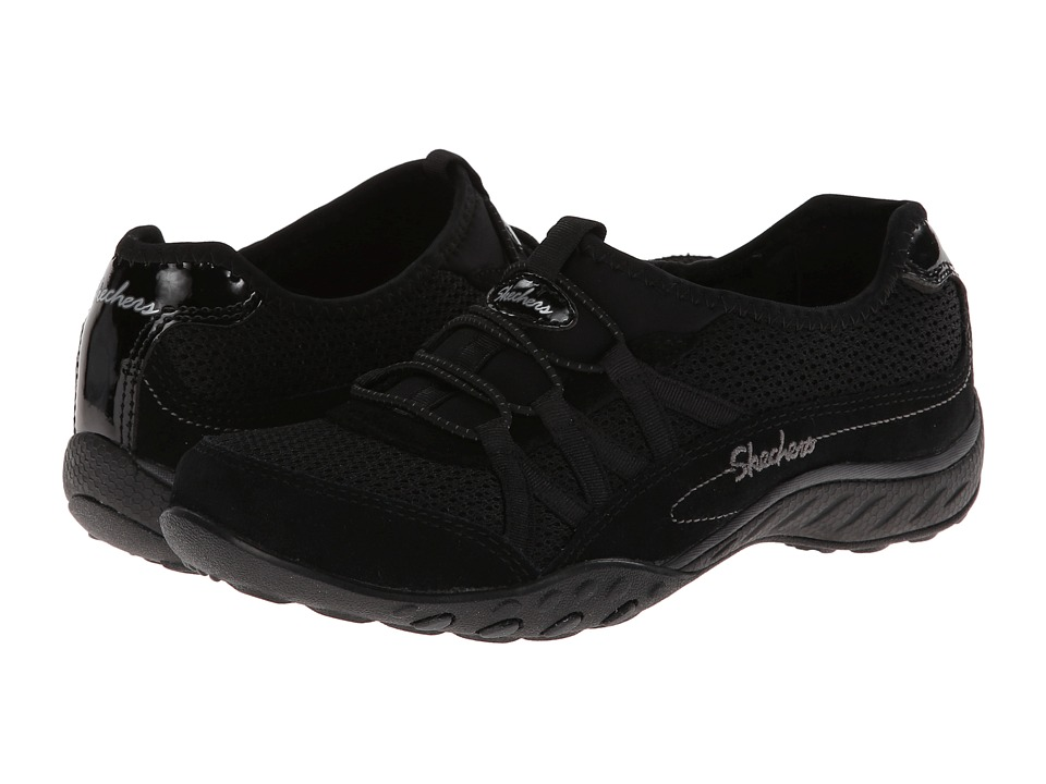 SKECHERS - Breathe Easy - Relaxation (Black) Women's Shoes