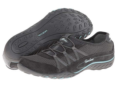 SKECHERS - Breathe Easy - Relaxation (Charcoal) Women's Shoes