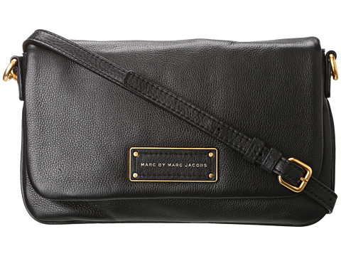 Marc by Marc Jacobs - Too Hot to Handle Flap Percy (Black) Cross Body Handbags