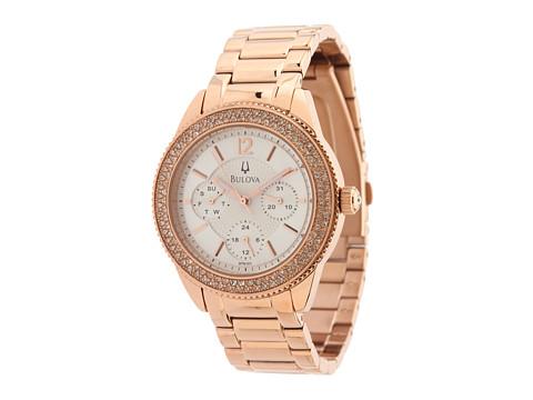 Bulova - Crystal (Rose Gold) Analog Watches