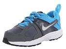 Nike Kids Dart 10 (Little Kid/Big Kid) (Dark Grey/Vivid Blue/Black/Metallic Silver)