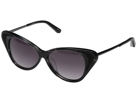 Elizabeth and James - Hanover (Black Horn/Gunmetal/Smoke Gradient) Fashion Sunglasses