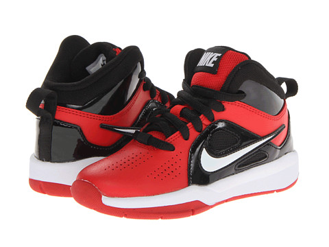 Nike Kids - Team Hustle D 6 (Little Kid) (Universtiy Red/White) Boys Shoes