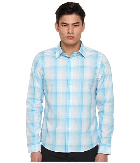Michael Kors - Milan Check Shirt (Milan Check Shirt) Men's Long Sleeve Button Up