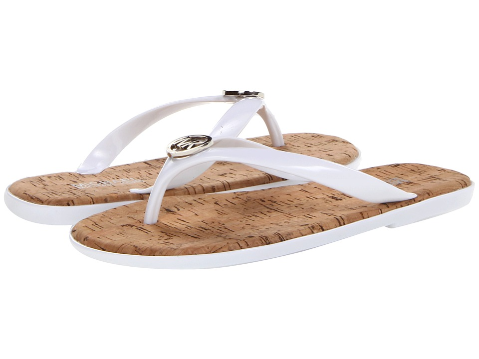 MICHAEL Michael Kors - Jet Set MK Jelly (Optic White Pvc) Women's Sandals