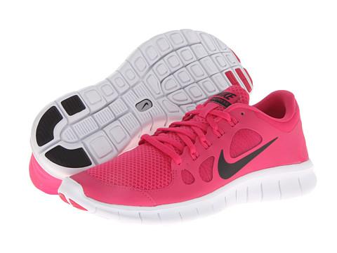 Nike Kids Free 5.0 (Big Kid) (Vivid Pink/White/Black) Girls Shoes